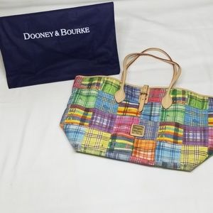 Dooney & Bourke Picnic Plaid Canvas Tote Bag